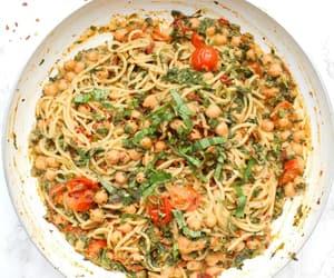 pasta, recipe, and vegan image
