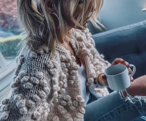 blogger, coffee, and fall fashion image