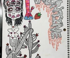 art, cactus, and eyes image