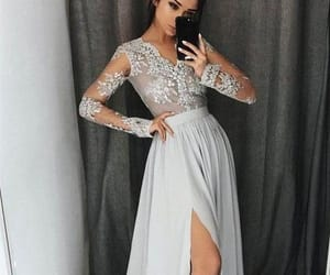 lace prom dress, beautiful prom dress, and prom dress simple image