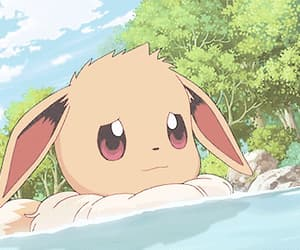 anime, pokemon, and eevee image