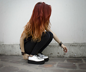 girl, hair, and creepers image