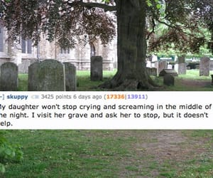aesthetic, caption, and graveyard image