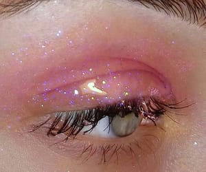 aesthetic, pink, and eyes image