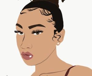 aesthetic, Cartoon Art, and eyelashes image