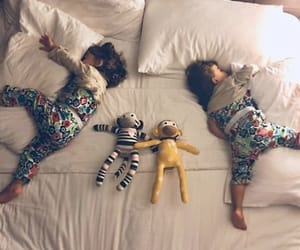 babies, bed, and boy image