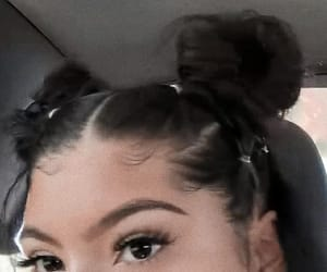 eyebrows, girls, and hair image