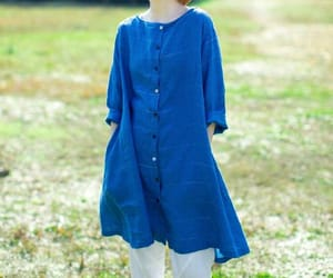blue shirt, long shirt, and casual shirt image