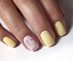 nails, manicure, and banana image