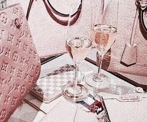 rose gold, pink, and champagne image