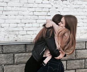 friends, hug, and bff image
