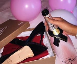 balloons, high heels, and luxury image