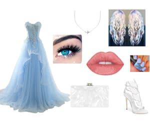Dream, dress, and pastel blue image