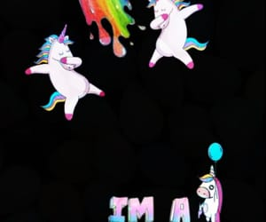 balloon, rainbow, and unicorns image