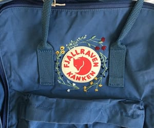 backpack, embroidery, and fjallraven kanken image
