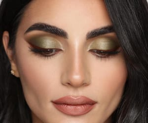 green, make up, and olive green image