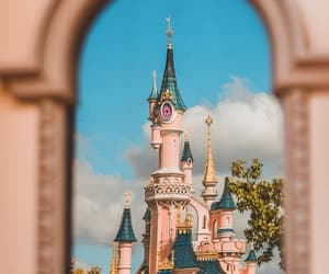 beauty, castle, and disney princess image