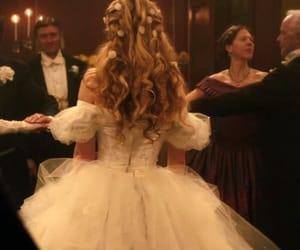 dress, hair, and princess image