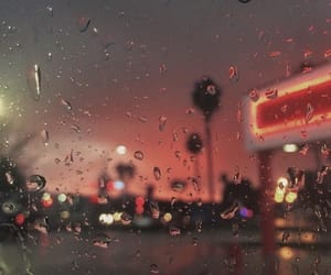 rain, aesthetic, and lights image
