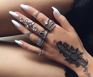 hand tattoo, henna, and tattoo image