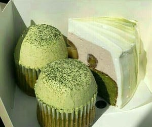 aesthetic, green, and cake image