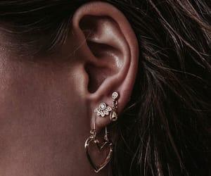girl, earrings, and fashion image