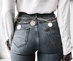 chains, girl, and jeans image