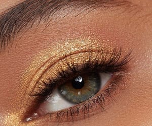 eye, eyeshadow, and gold image