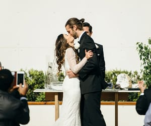 bride, wedding, and love image