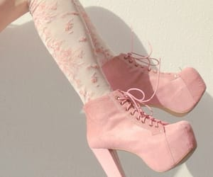 girly, high heels, and pink image