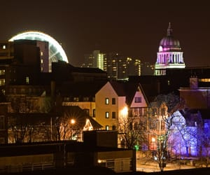 cities, lights, and nottingham image