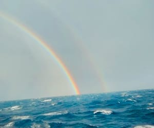 arcoiris, azul, and barco image