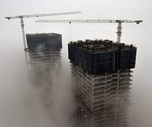 building and foggy image