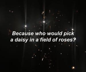 alone, black, and daisy image