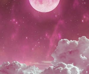 wallpaper, moon, and pink image