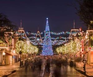 christmas, disneyland, and lights image
