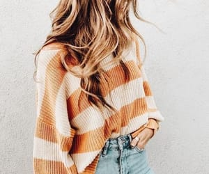 denim, hair, and outfit image