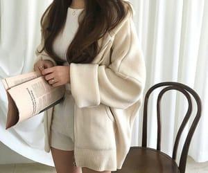 beige, kfashion, and korean fashion image