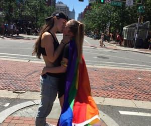 lesbian, girl, and hug image