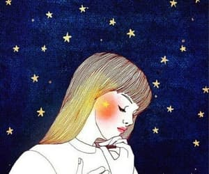 art, Ilustration, and night image