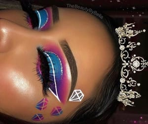 diamond, makeup, and beauty image
