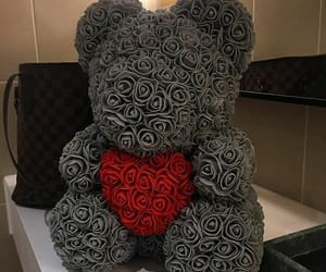 bear, luxury, and roses image