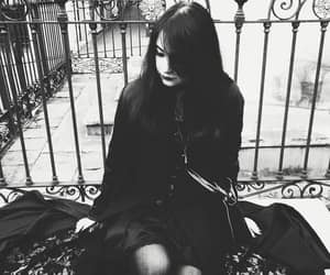alt girl, goth, and melancholic image
