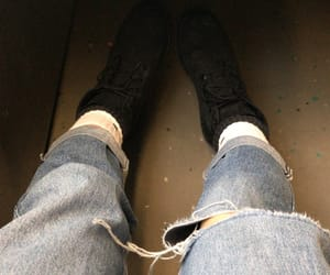 boots, jeans, and nike image