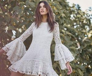 boho, long sleeves, and wedding dress image
