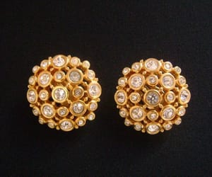 etsy, swarovski crystals, and clip on earrings image