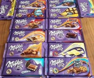 chocolate, milka, and food image