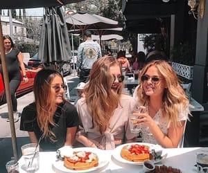 drinks, girls, and food image
