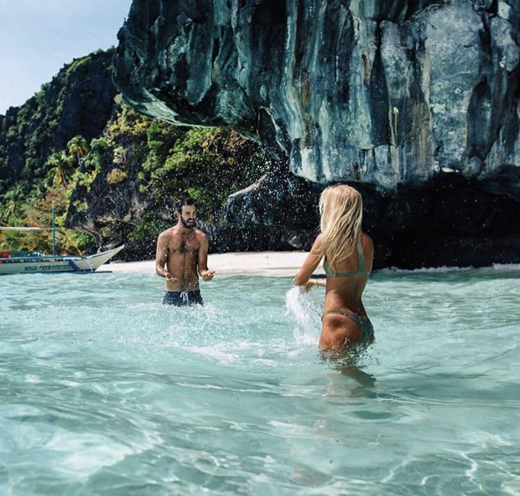 bathing, beach, and boy image