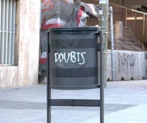 doubt, grafitti, and words image
